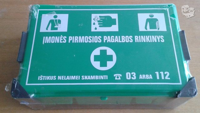 Įmonės pirmosios pagalbos vaistinėlė