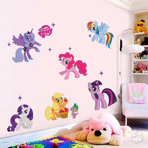 Sienos lipdukas Little Pony, 50x70cm
