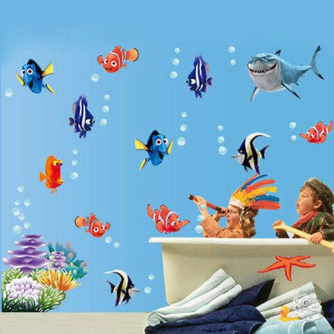 Sienos lipdukas Žuviukas Nemo, 60x130cm