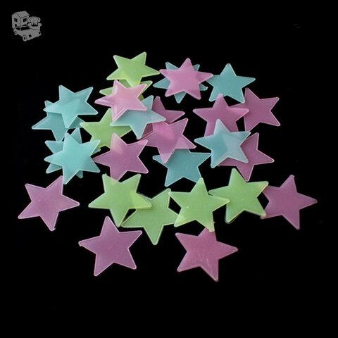 Švytinčios žvaigždutės, vienspalvės, 100vnt.