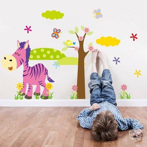 Spalvingi sienos lipdukai vaikų kambariui