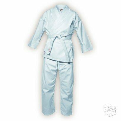 Karate kimono (švarkas, kelnės ir baltas diržas)