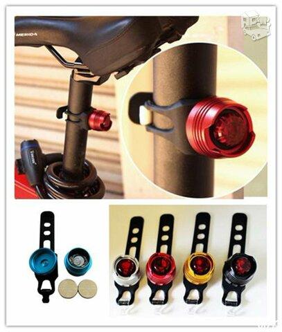Dviračio galinis žibintas 3 funkcijų LED