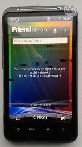 HTC desire HD model A9191 telefonas, viskas veikia, ekranas su
