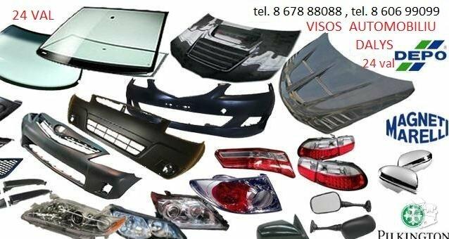 Fiat 500X žibintai / kėbulo dalys