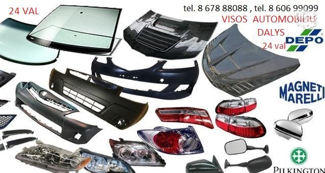Honda Fit žibintai / kėbulo dalys