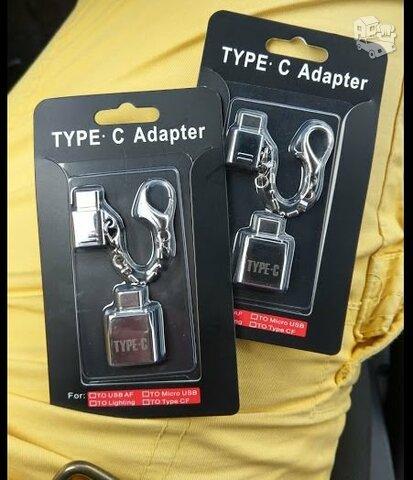 Type C 3.1 i USB 2.0 ir Micro USB pakabukas (metaliniai)