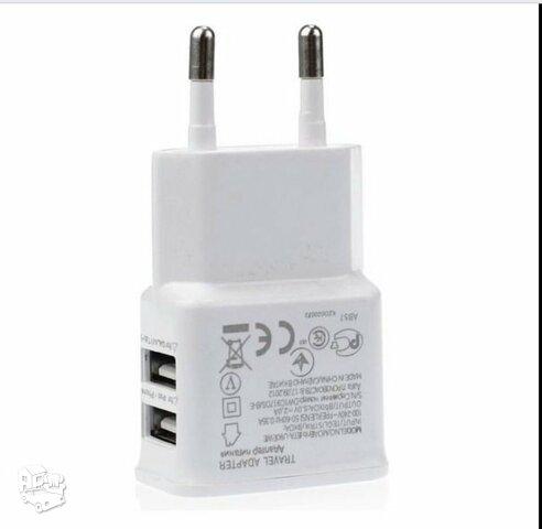 2.1 A ir 1.0 A pakrovėjas 2 in 1 USB