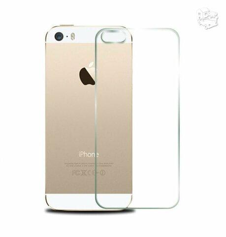Grūdinto stiklo apsauginė plėvelė iPhone 5 5S (galinio dangtelio