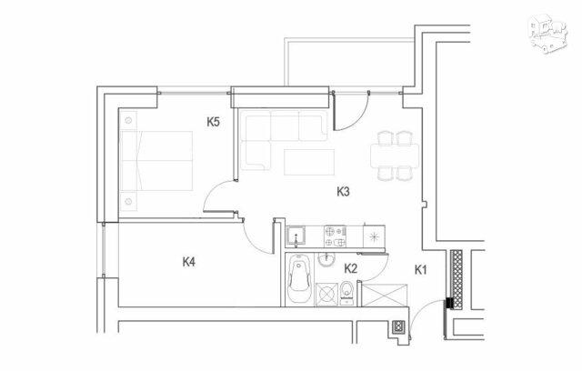 3 kambarių butas Vilniuje, Naujamiestyje, Geležinio Vilko g.