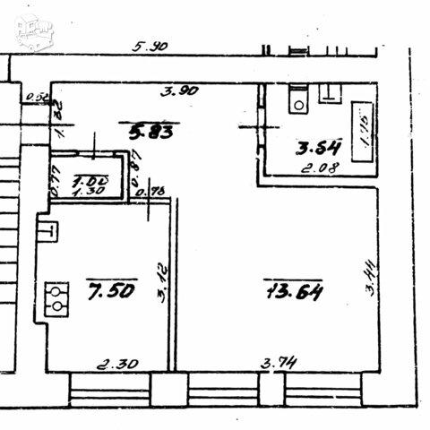 1 kambario butas Vilniuje, Naujamiestyje, V. Šopeno g.