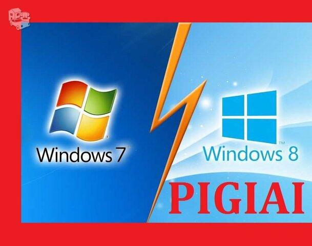 Pigiai įrašau, perinstaliuoju windows 7, 8, 10, XP