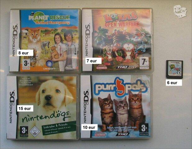 Nintendo žaidimai. Yra ta kas matoma nuotraukoje.
