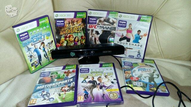 Kinect sensorius - kamera su kinect adventures žaidimu - 40€